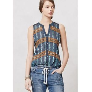 <TINY> Anthropologie Sprigstitch Blouse Embroidery